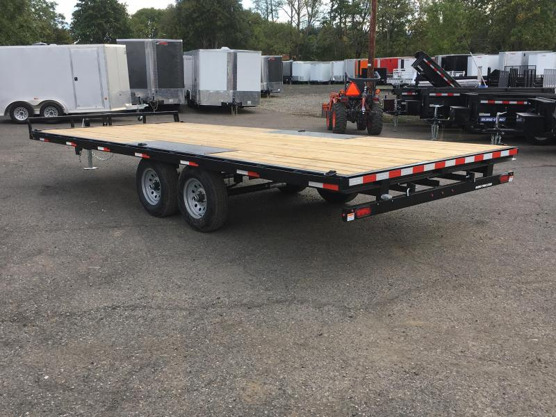 8.5x20 10k Low Profile Flatbed Deck Over Trailer