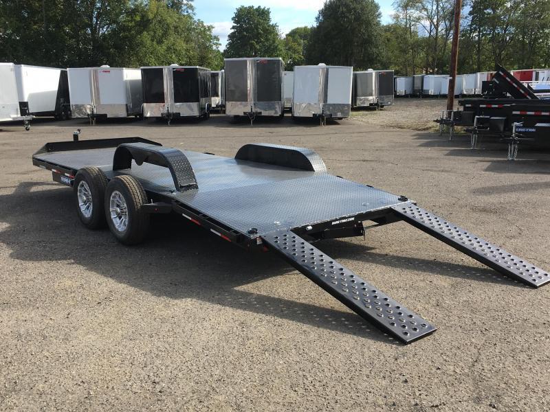 7x20 Car Hauler 7k Steel Deck Open Utility Trailer **FACTORY ORDER**