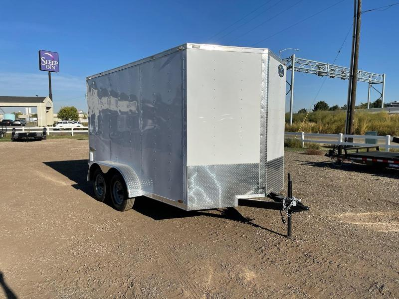 7x12 7k Cargo Trailer with Double Doors in the Rear