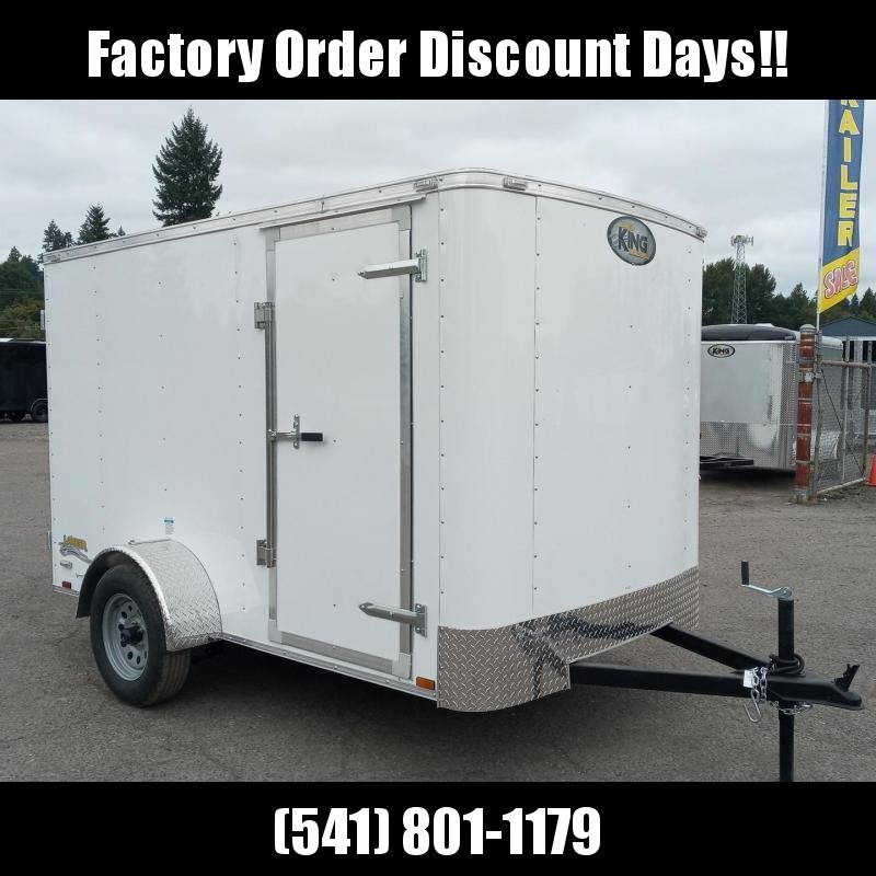 6x10 Enclosed Cargo Trailer With Double Doors **FACTORY ORDER**