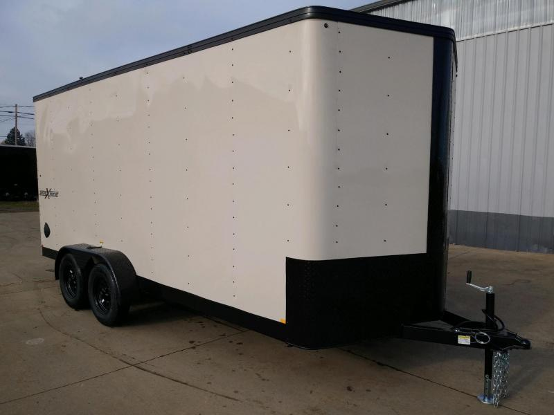 7 x 16 Tandem Axle Enclosed Cargo Trailer ** Desert Tan with Pitch Black Side x Side Package **