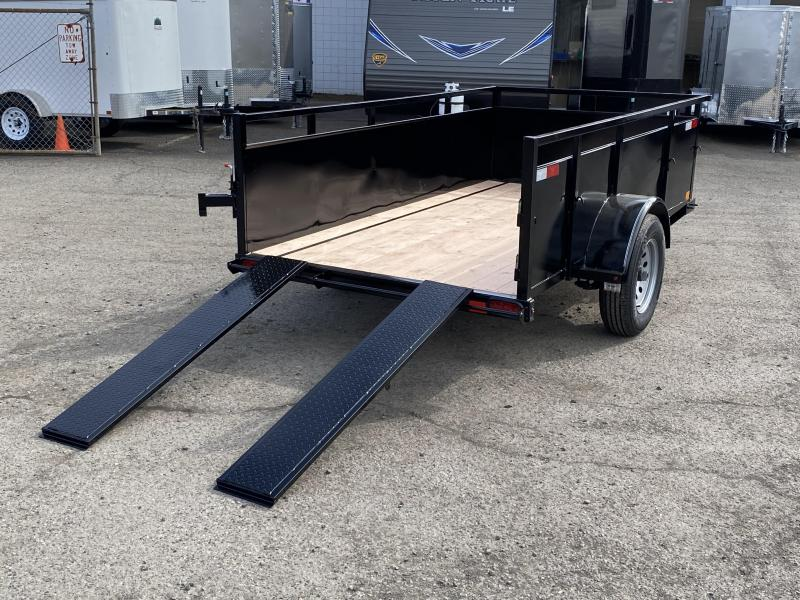 5x8 Utility Trailer With Swing Gate And Ramps