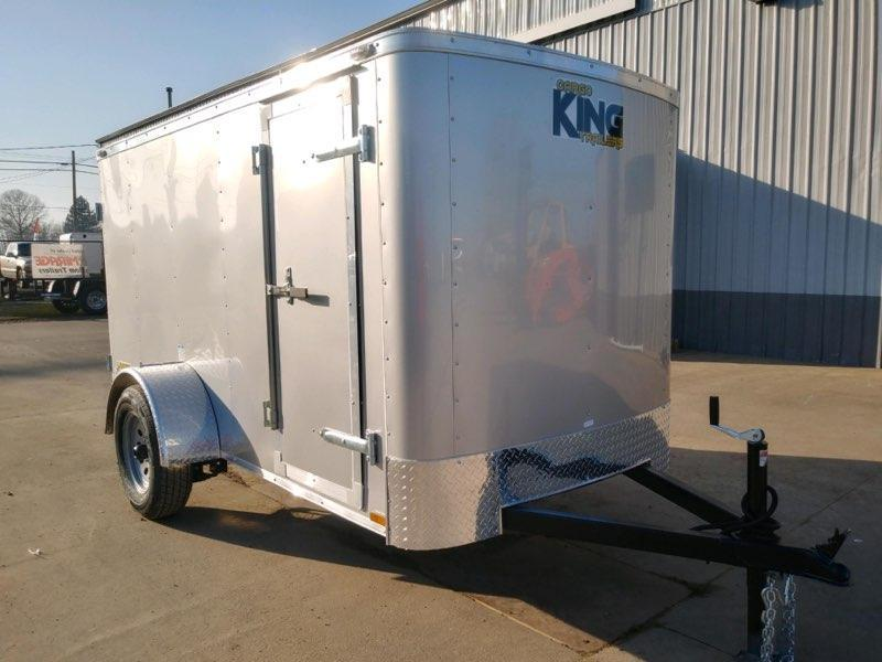 2021 5x10SA Enclosed Cargo Trailer  **  Diamond Ice Skin  **  Rear Double Doors  **