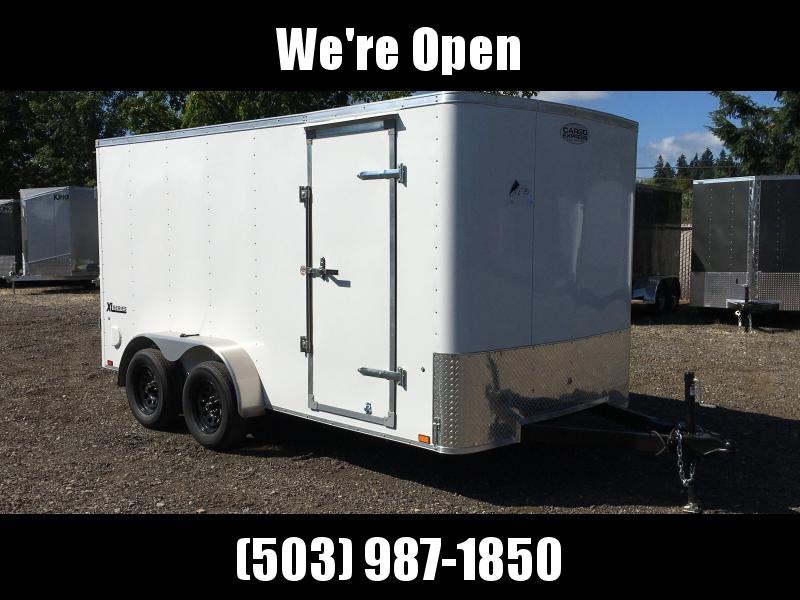 7x14 Tandem Axle Enclosed Cargo Trailer Double Door