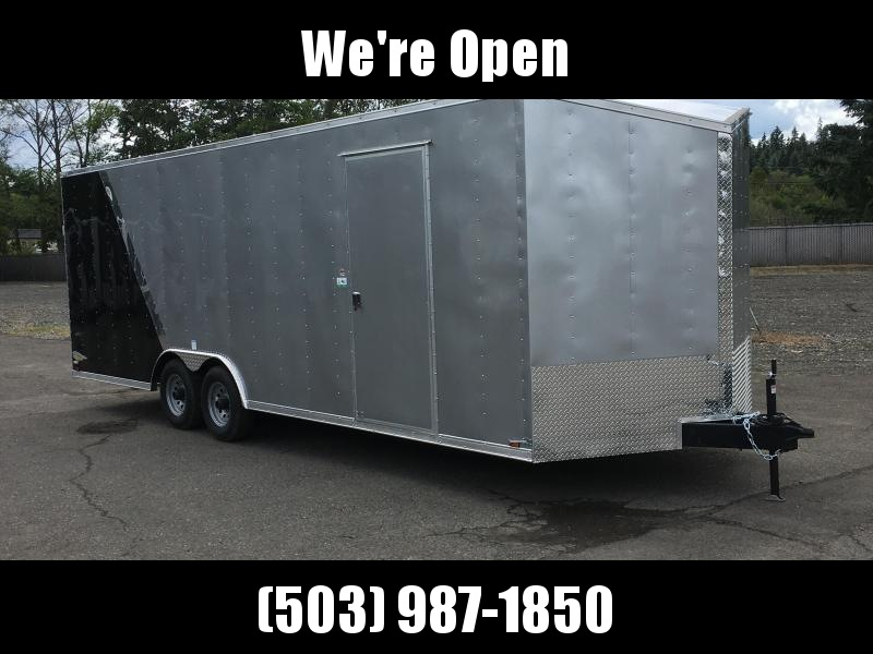 8.5x24 Tandem Axle Enclosed Cargo Trailer **Plus Height Two Tone**