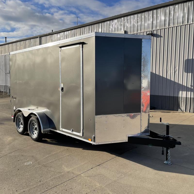 7x14 7k Enclosed Cargo Trailer with Rear Ramp Door