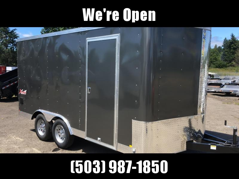 8.5x14 Tandem Axle Enclosed Trailer with ramp