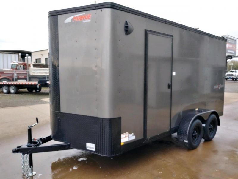 7x14 Enclosed Cargo Trailer  **  Side x Side Package  **  Road Side Door  **  Extra Height  **  Rear Ramp Door  **