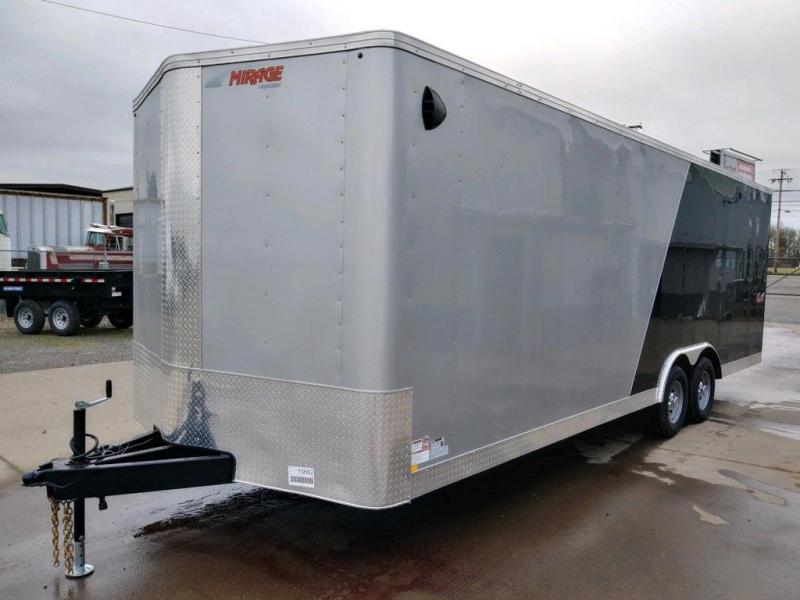 8.5x24 Enclosed Cargo Trailer  **  Rear Ramp Door  **  Spare tire and mount included  **