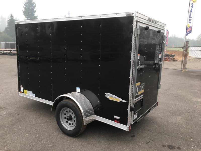 5x10 Enclosed Cargo Trailer With RV Door and Ramp Door