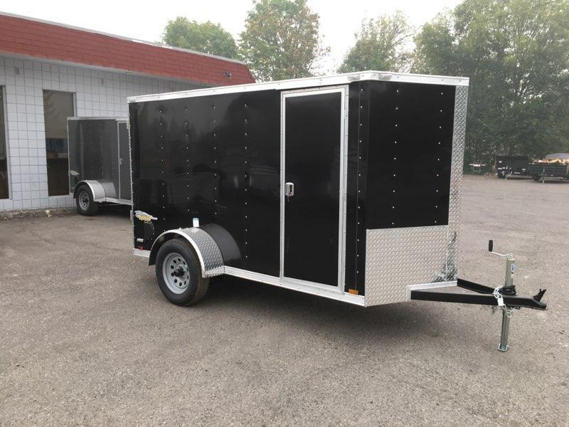 5x10 Enclosed Cargo Trailer With RV Door and Ramp Door