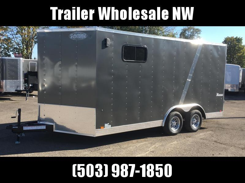 "8.5x16 Enclosed Cargo Trailer **82"" Rear Door Height**"