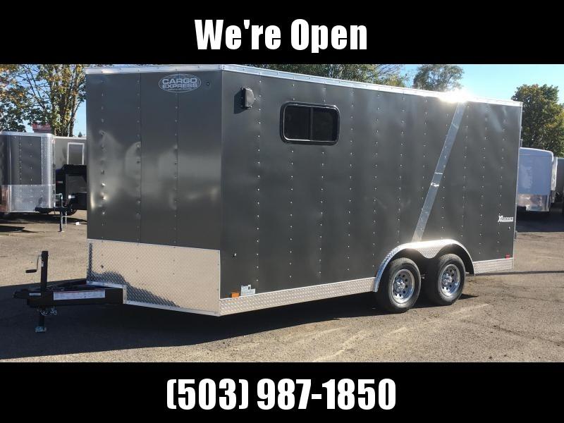 "8.5x16 Enclosed Cargo Trailer **82"" Rear Door Height**"
