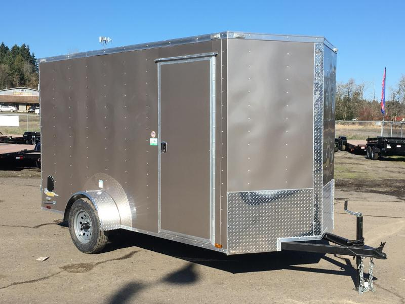 6x12 Enclosed Cargo Trailer With Rv Door And Ramp