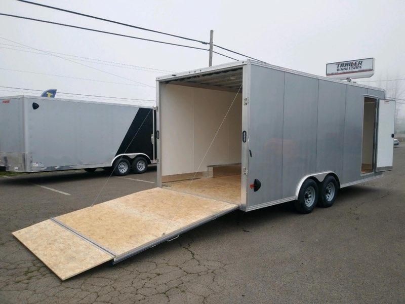 8x20 Enclosed Cargo Trailer  **  All Aluminum  **  Finished walls and ceiling  **  7,410# Payload **