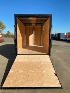 6x12 Enclosed Cargo Trailer  ** Matte Black and Ramp Door  **