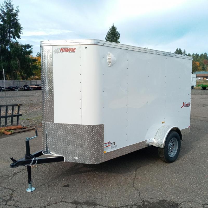 5x10 Enclosed Cargo Trailer with Single Swinging Rear Door