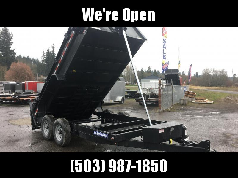 7x12 Dump Trailer 14K Telescopic Dump With Tarp Kit And Ramps