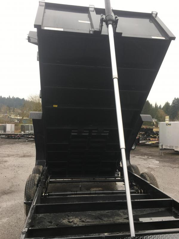 7x12 Dump Trailer 14K Telescopic Dump With Tarp Kit And Ramps