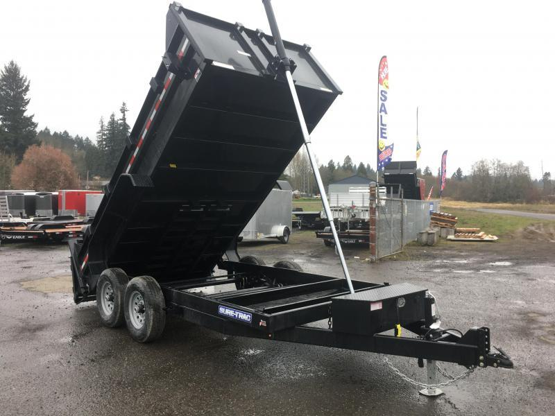 7x12 Dump Trailer 12K Telescopic Dump With Tarp Kit And Ramps