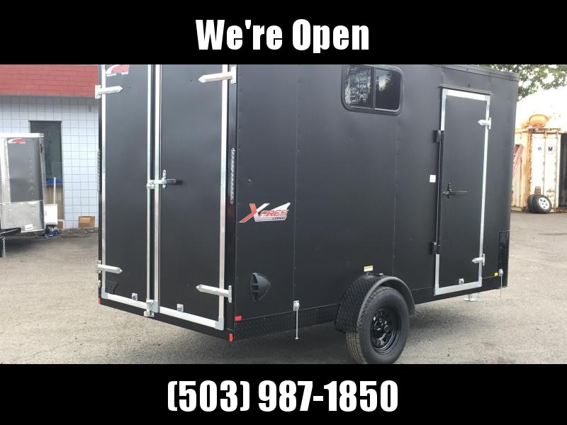 6x12 Enclosed Cargo Trailer With Window plus Height And Double Door