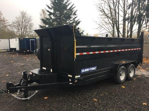 7x16 Dump Trailer 14K Telescopic 4 Ft Side Dump