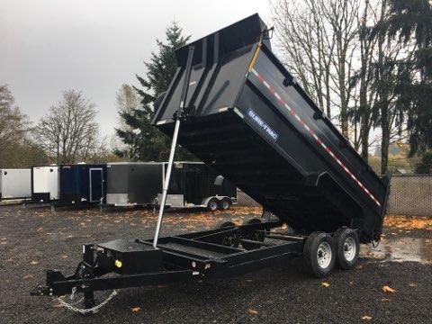 7x16 Dump Trailer 14K Telescopic 4 Ft Side Dump