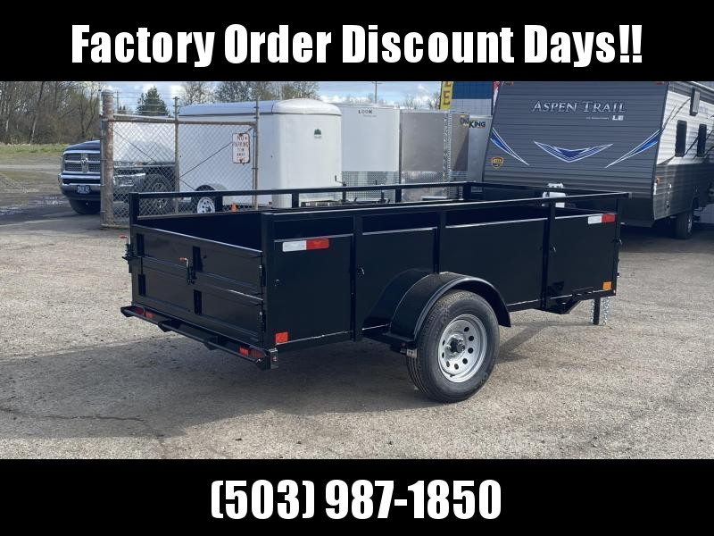 5x10 Utility Trailer With Swing Gate & Combo Ramp **FACTORY ORDER**
