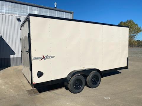 7 x 16 Enclosed Cargo Trailer ** Desert Tan Side x Side Package ** Black Out Package **
