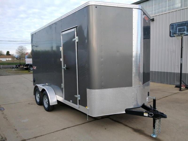 7x14 Enclosed Cargo Trailer  **  12'' of extra height  **  Rear Double Barn Doors  **