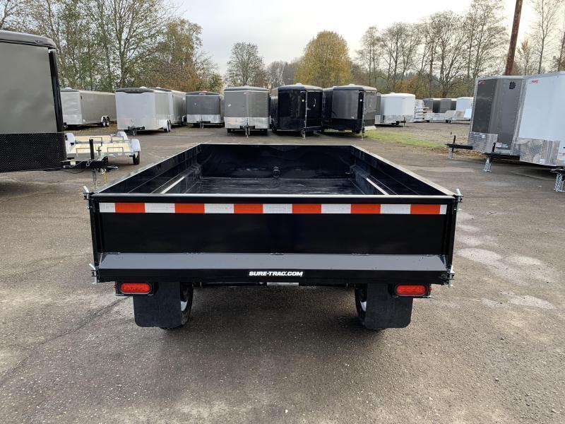 6x10 Deckover Dump Trailer 10K Single Ram