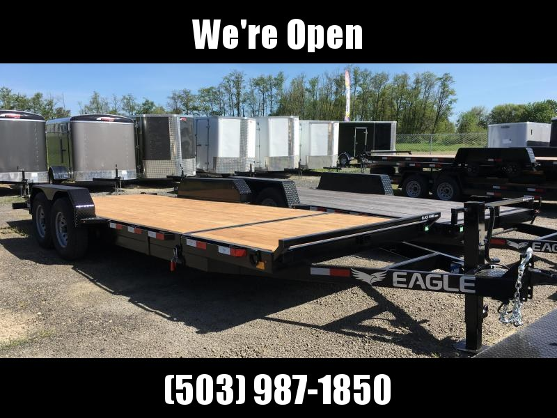 7x20 Equipment 14k TILT Trailer - HD Split Deck