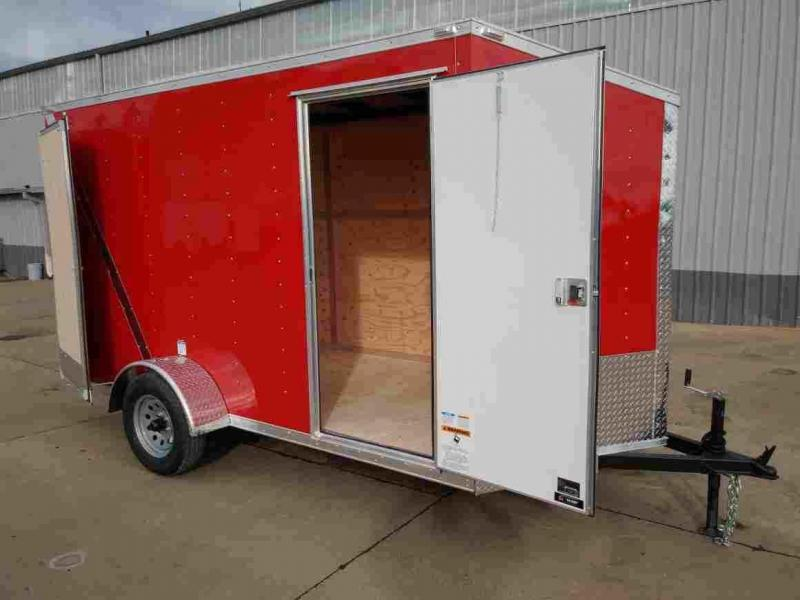 """6 x 12 Enclosed Cargo Trailer ** 6"""" additional height**"""