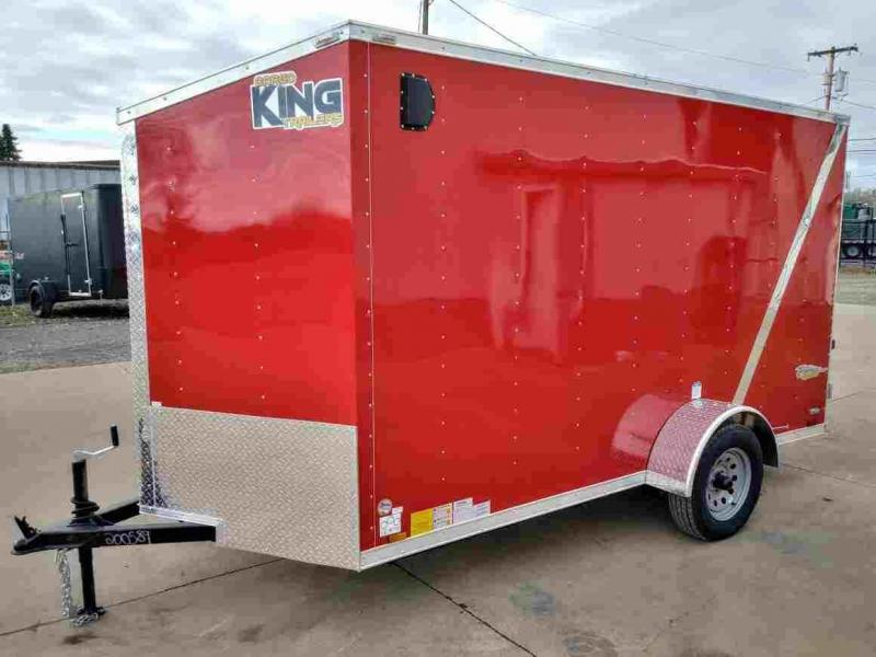 "6 x 12 Enclosed Cargo Trailer ** 6"" additional height**"