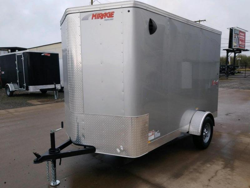 6x10 Enclosed Cargo Trailer  **  Rear Ramp Door  **  Rear Stabilizer Jacks  **