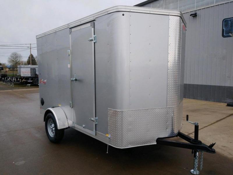 6x10 Enclosed Cargo Trailer  **  Rear Ramp Door  **  Rear Stabilizer Jacks  **
