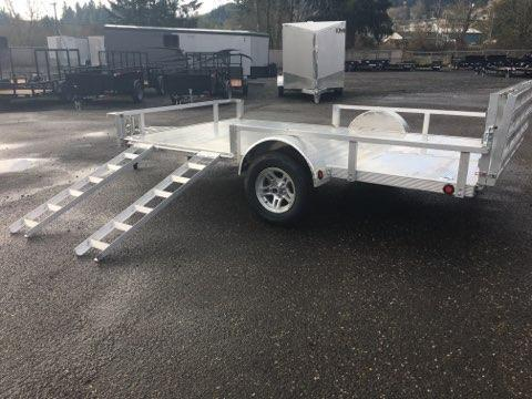 7X12 Aluminum Utility Trailer Drop Gate 3K ATV Side Load