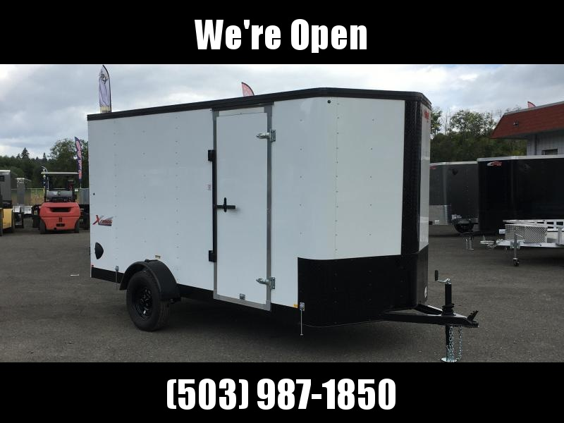 6x12 Enclosed Cargo Trailer With  Plus Height And Double Door