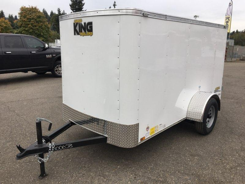 6x10 Enclosed Cargo Trailer With Double Door