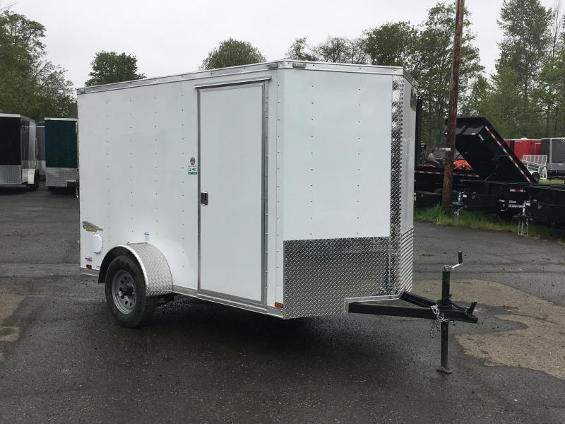 6x10 Enclosed Cargo Trailer **RV Side Door Double Door Rear**