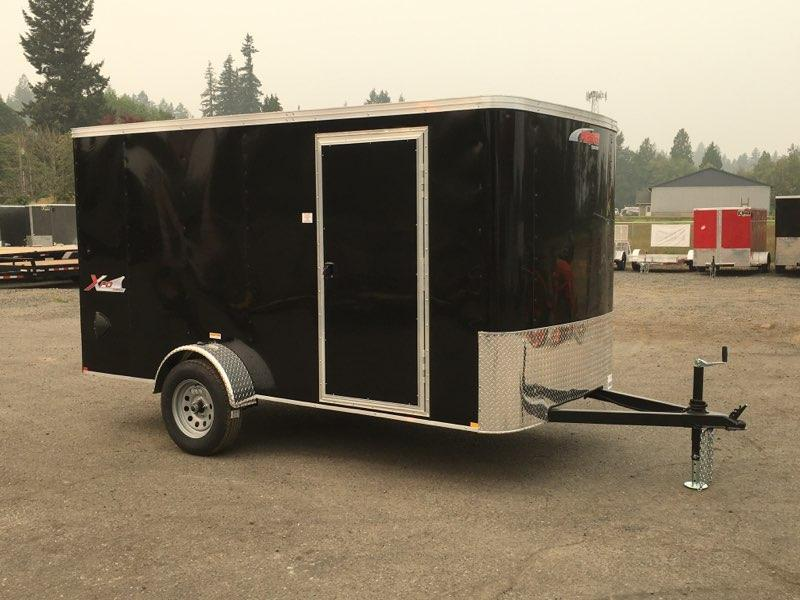 6x12 Enclosed Trailer With ramp Rv Door and Ramp