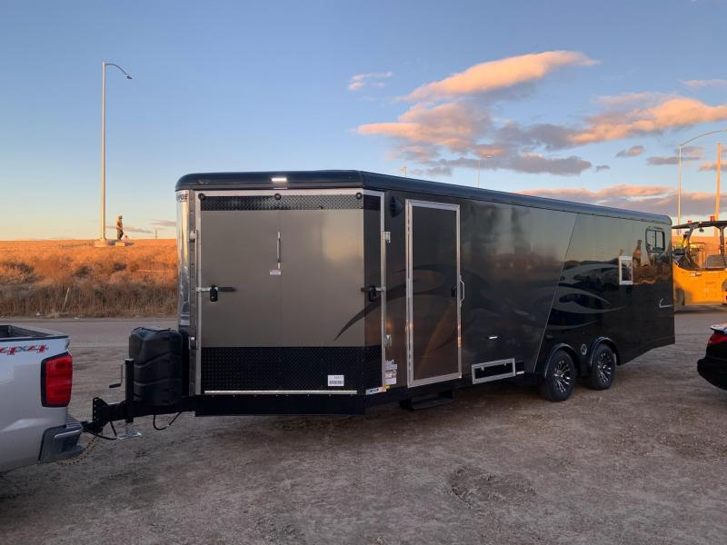 8.5x28 Tandem Axle 10K Enclosed Mirage Snowmobile Trailer
