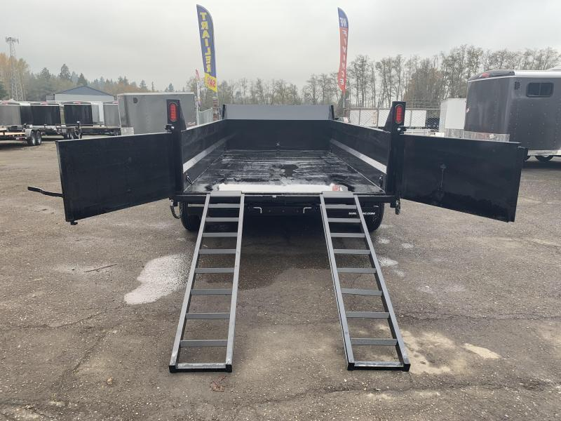7x12 Dump Trailer 12K Telescopic Dump And Ramps