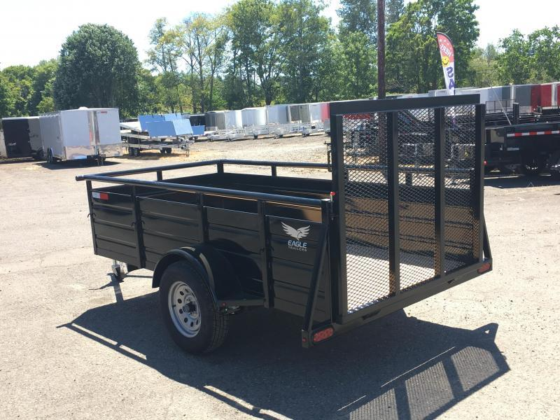 5x8 Utility Trailer With Drop Gate
