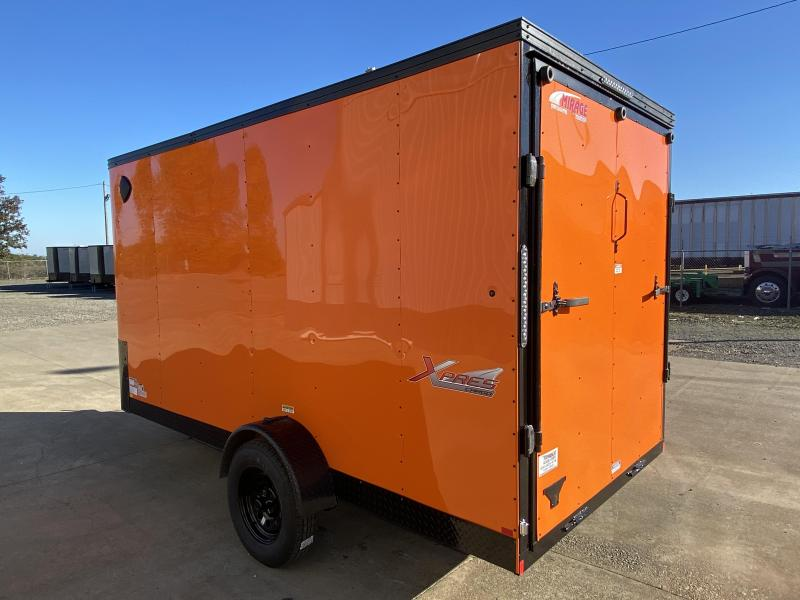 New Mirage 6x12 Enclosed Trailer Orange With Blackout and Rear Ramp