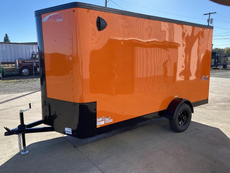 Christmas Blowout Sale! New Mirage 6x12 Enclosed Trailer Orange With Blackout and Rear Ramp