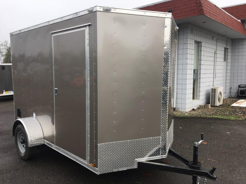 6x10 Enclosed Cargo Trailer With Rv Door And Ramp Door