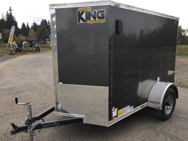 5x8 Enclosed Cargo Trailer With Double Door