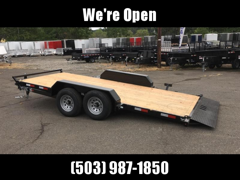 7x16 Car Hauler  - 10K Tilt Open Utiltiy Trailer
