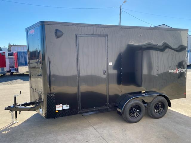 Enclosed Cargo Trailer ** Pitch Black Side x Side Package **